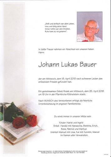 Johann Lukas Bauer