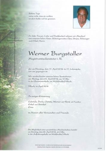Werner Burgstaller