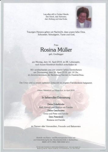 Rosina Müller, geb. Großegger