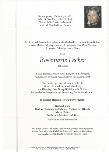 Rosemarie Lecker