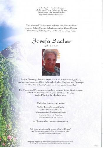 Josefa Bacher