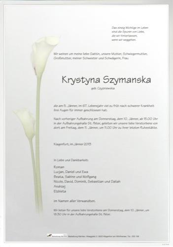 Szymanska Krystyna