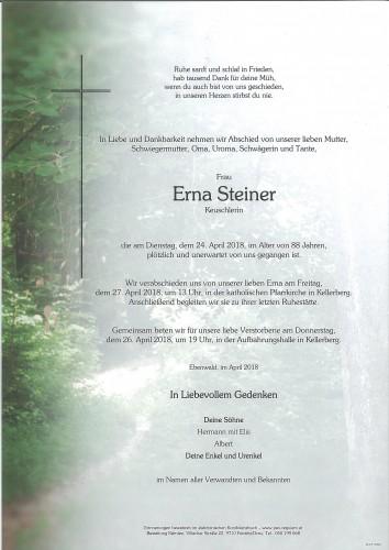Erna Steiner, Keuschlerin
