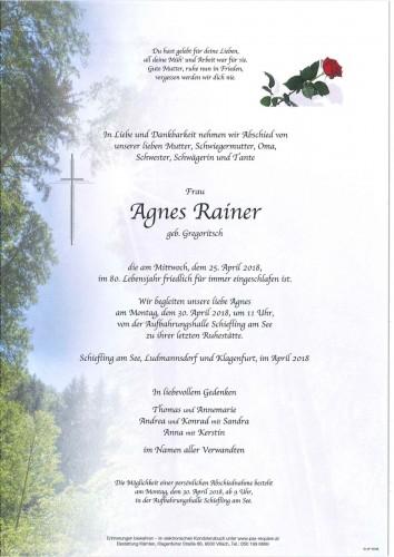 Agnes Rainer