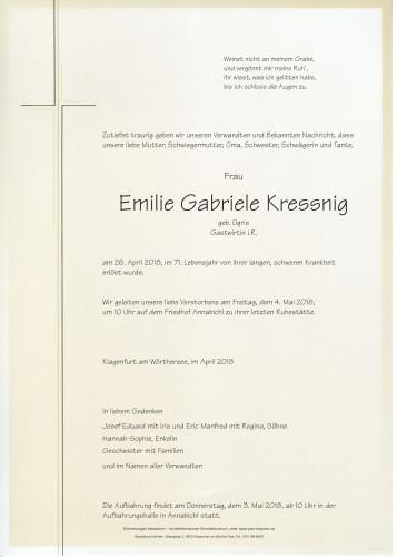 Emilie Gabriele Kressnig, Gastwirtin i.R.