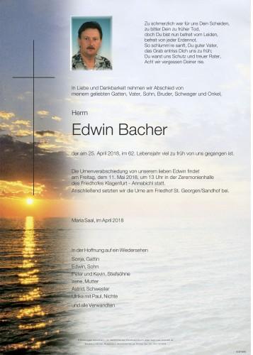 Edwin Bacher