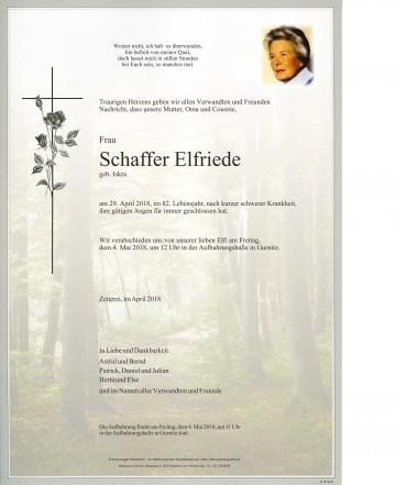 Elfriede Schaffer