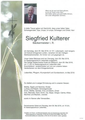 Siegfried Kulterer