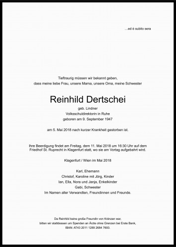 Reinhild Dertschei