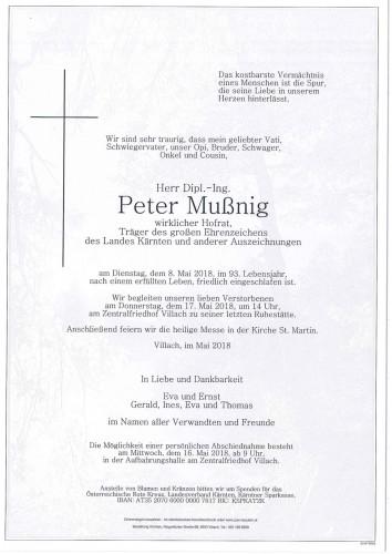 Dipl.-Ing. Peter Mußnig