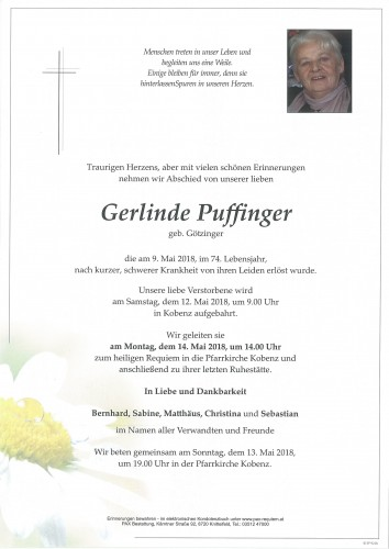 Gerlinde Puffinger geb. Götzinger