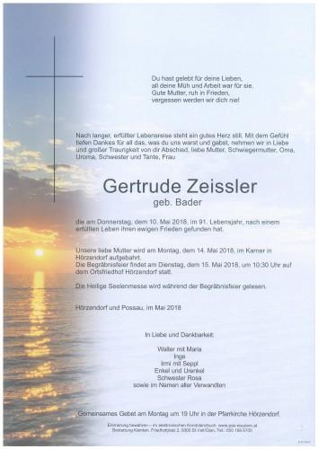 Gertrude Zeissler