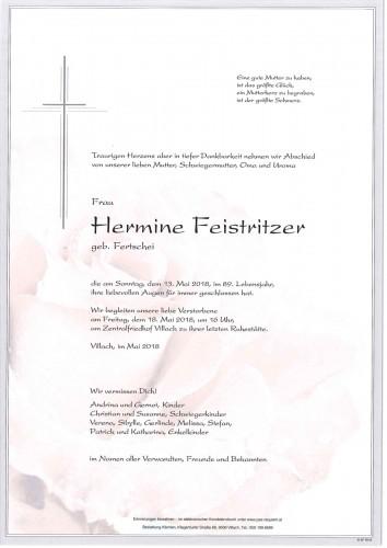 Hermine Feistritzer geb. Fertschei