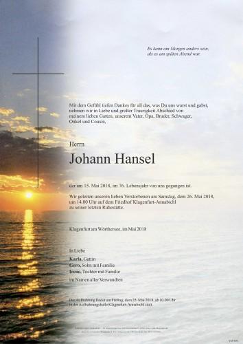 Johann Hansel