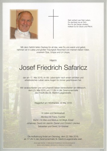Josef Friedrich Safaricz