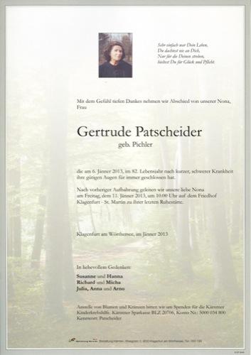 PATSCHEIDER Gertrude