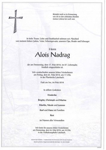 Alois Nadrag