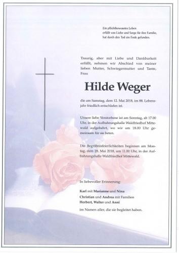 Hildegard Weger