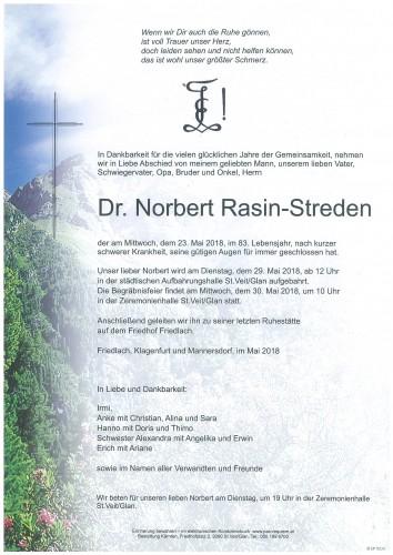 Dr. Norbert Rasin - Streden