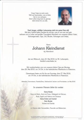 Johann Kleindienst, vig. Kleindienst