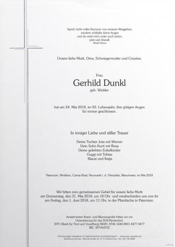 Gerhild Dunkl