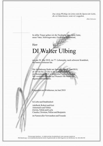 DI Walter Ulbing