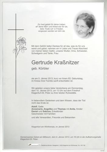 KRAßNITZER Gertrude
