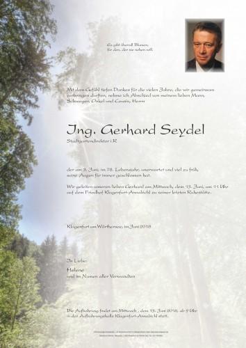 Ing. Gerhard Seydel