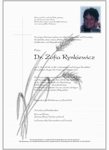 Dr. Zofia Rynkiewicz