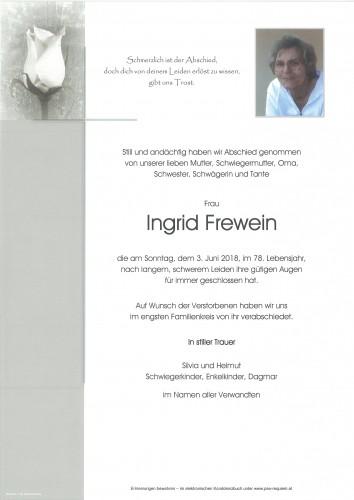 Ingrid Frewein