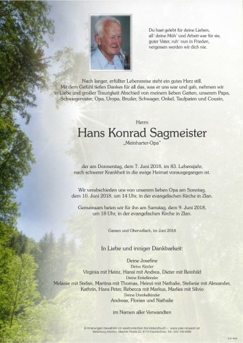 Hans Konrad Sagmeister