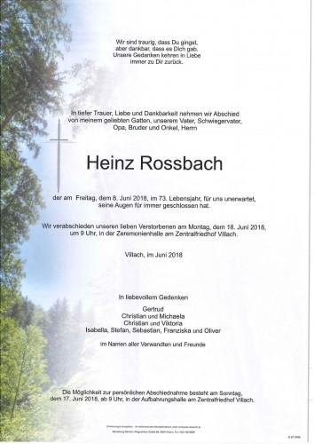 Rossbach Heinz