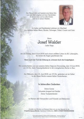Josef Walder, Laber Sepp