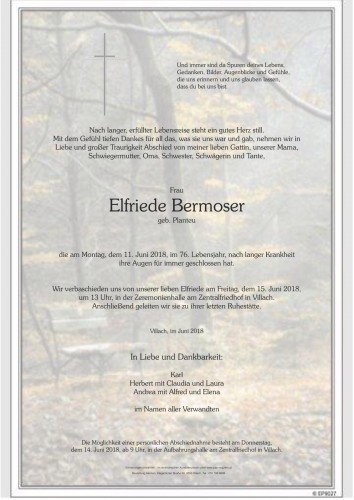 Elfriede Bermoser