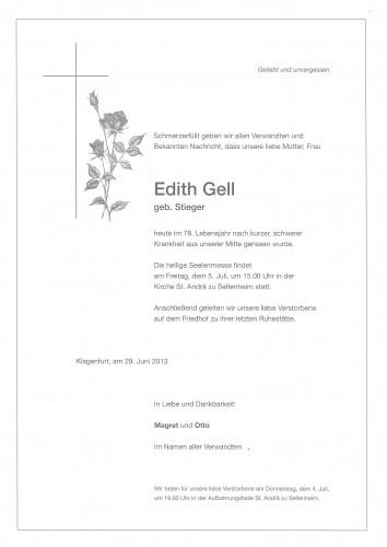 Edith Gell (geb. Stieger)
