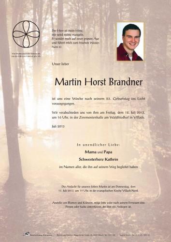 Martin Horst Brandner