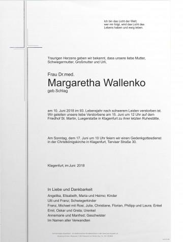 Dr. med. Margarethe Wallenko
