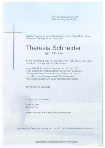 Theresia Schneider  geb. Floredo