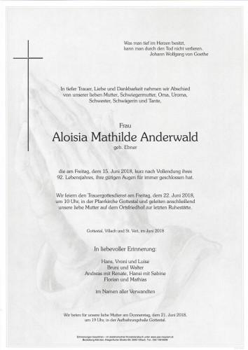 Aloisia Mathilde Anderwald