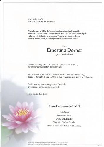 Ernestine Dorner, geb. Freudenthaler