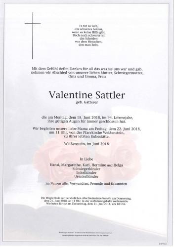 Valentine Sattler