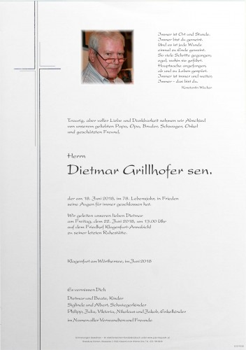 Dietmar Grillhofer sen.