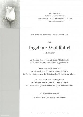 Ingeborg Wohlfahrt