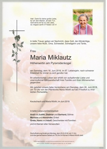 Maria Miklautz, Höhenwirtin am Pyramidenkogel