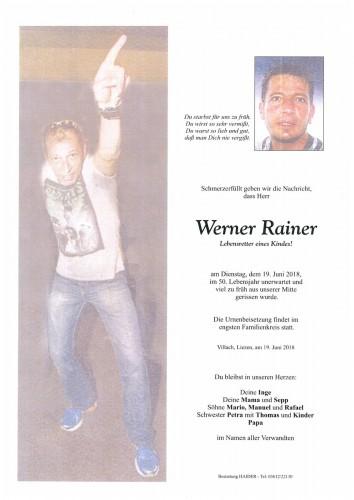 Werner Rainer