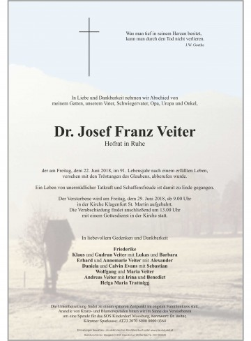 Dr. Josef Veiter