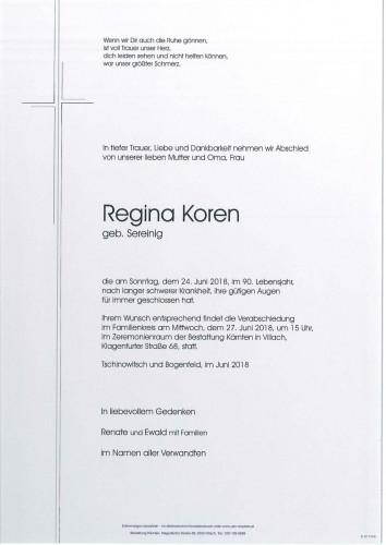 Regina Koren, geb. Sereinig