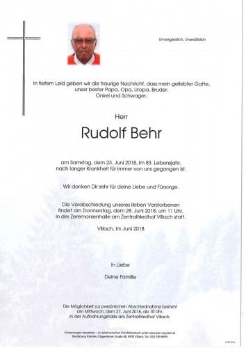 Rudolf Behr