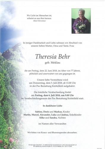 Theresia Behr geb. Meklau