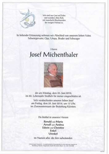 Josef Michenthaler